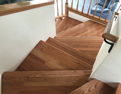 Stair remodel projects by Barron's Abbey Flooring & Design in Sutter Creek, California