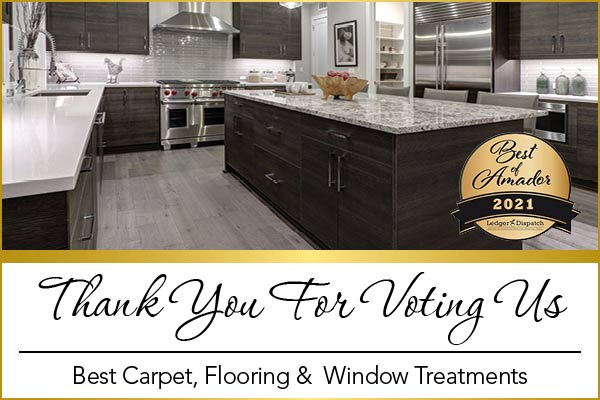 Barron's Abbey Flooring & Design was voted best customer service and Best Carpet, Flooring, and Window Treatments