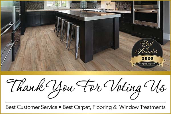 Barron's Abbey Flooring & Design was voted best customer service and Best Carpet, Flooring, and Window Treatments for 2020